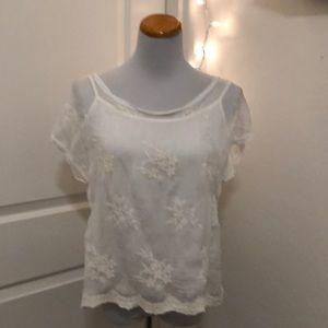 Angela's Moda ivory cami and blouse size large